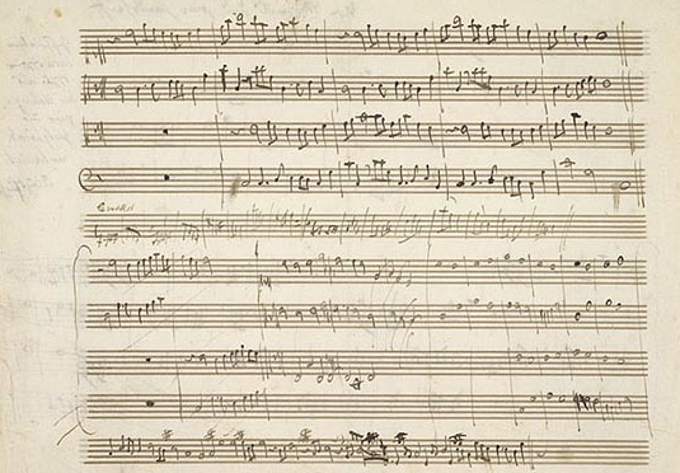 "An example of surviving ""work in progress"" by Mozart"
